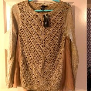 I.N.C. International Concepts Gold sweater-NWT